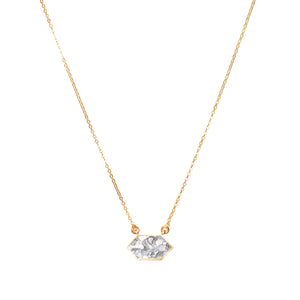 sand resin diamond pendant on 18k gold necklace