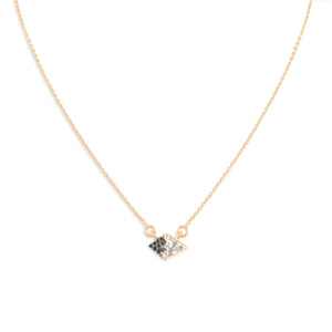 black diamond gold chain necklace