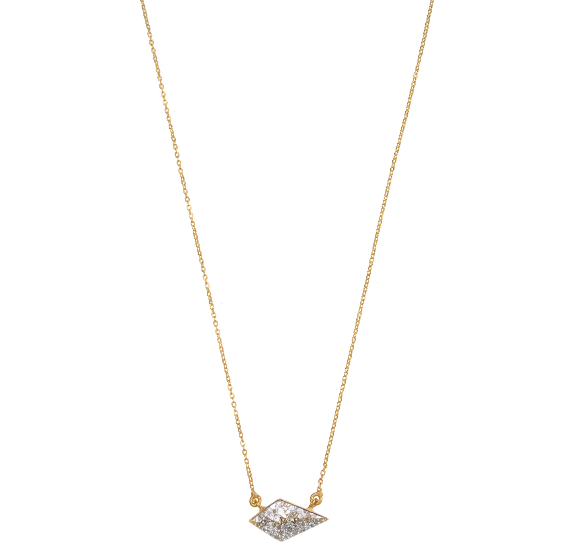 diamond pendant on gold chain necklace