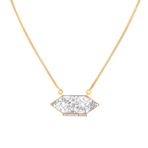 diamond pendant gold chain necklace