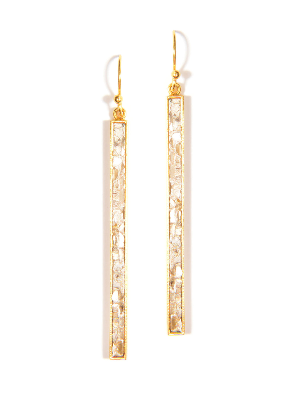 gold diamond drop dangle earrings