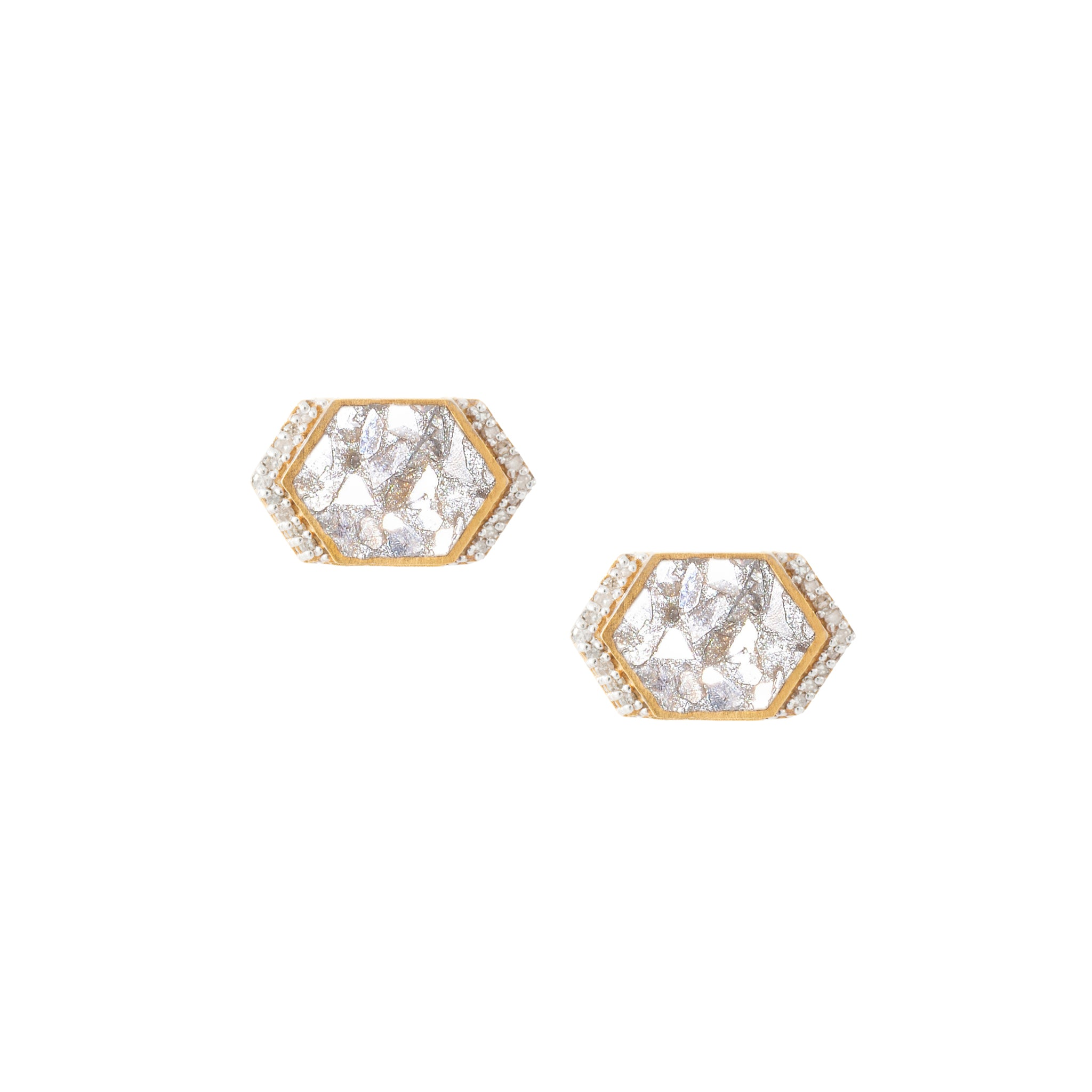 18k gold diamond studs