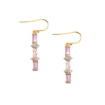 Perry Earrings Pink Tourmaline
