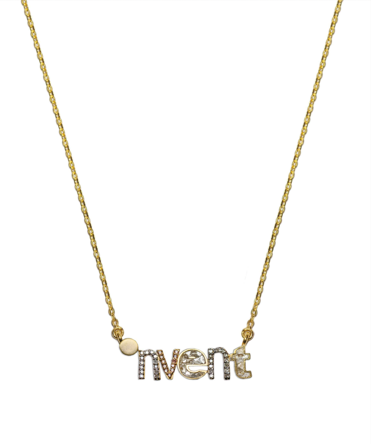 invent word pendant necklace