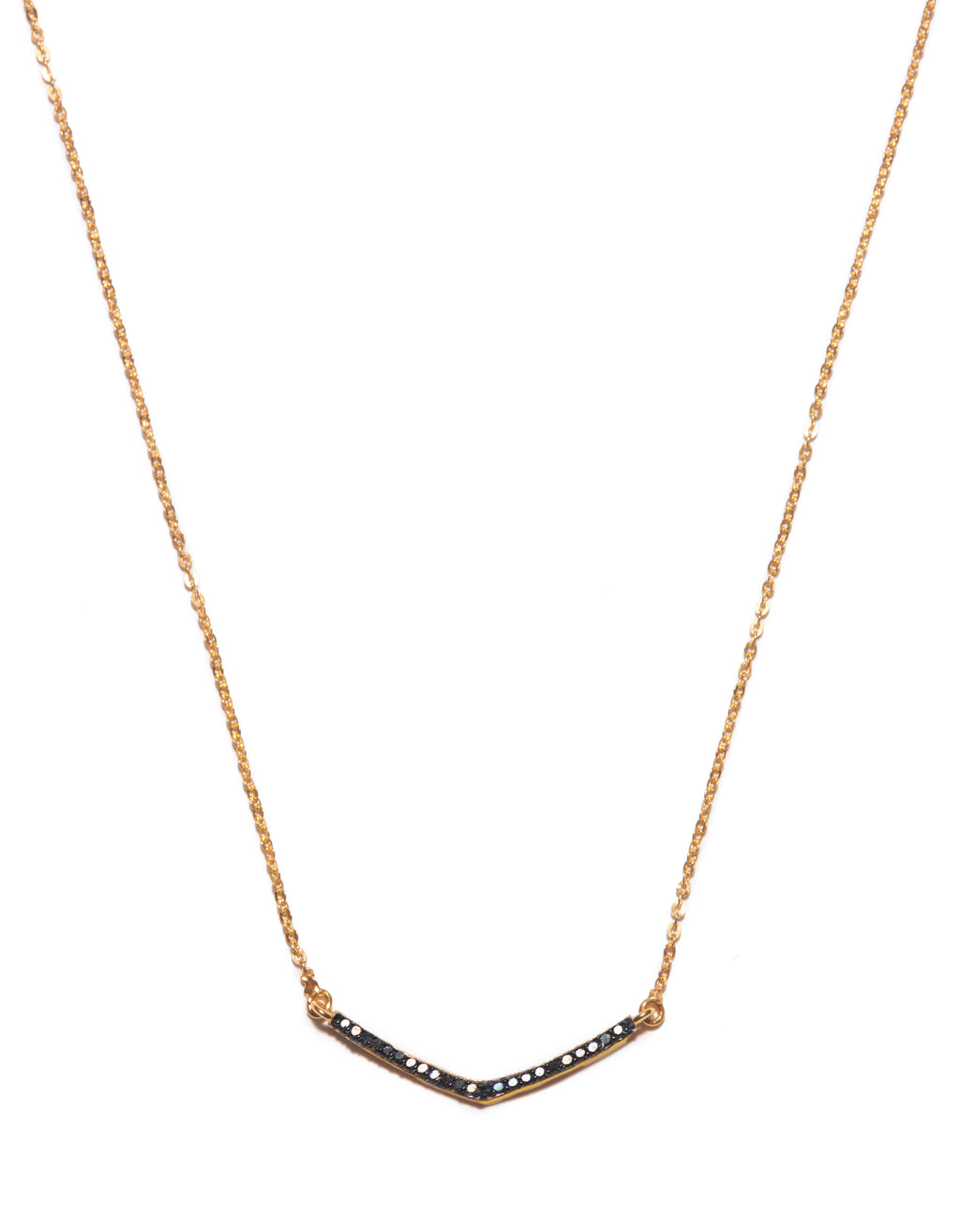 Small V Pendant Black Diamonds