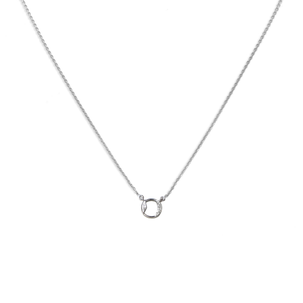 diamond pendent sterling silver necklace