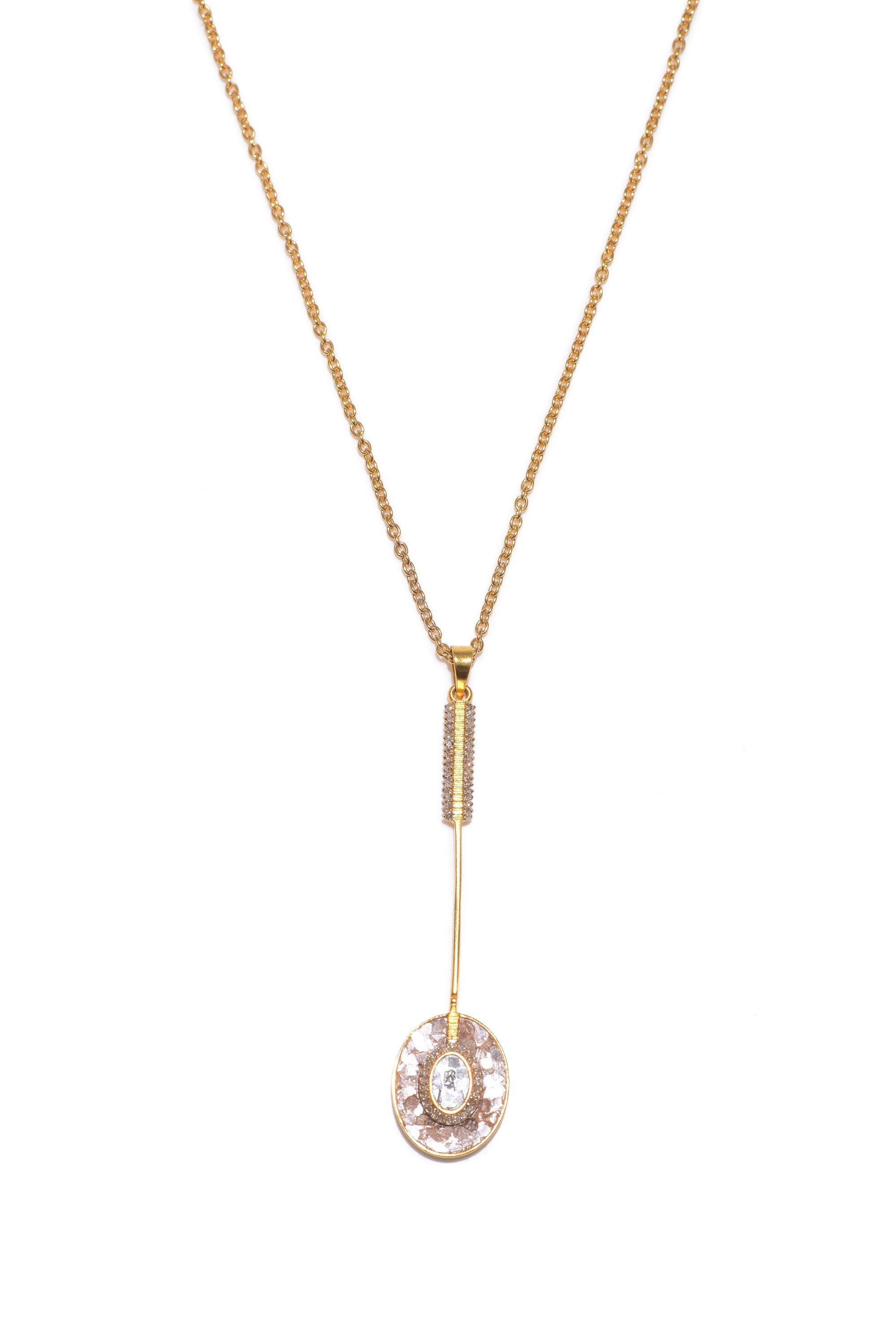 18k gold diamond drop necklace