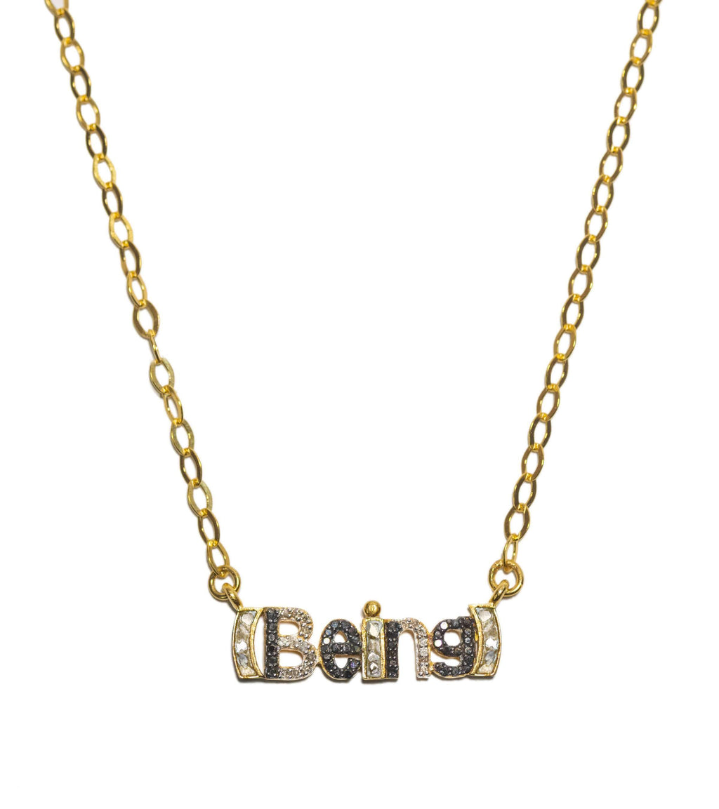 being word pendant necklace