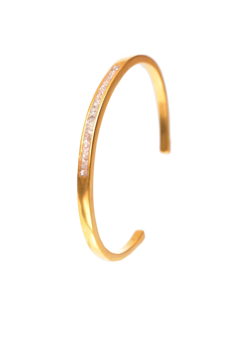 diamond 18k gold bangle