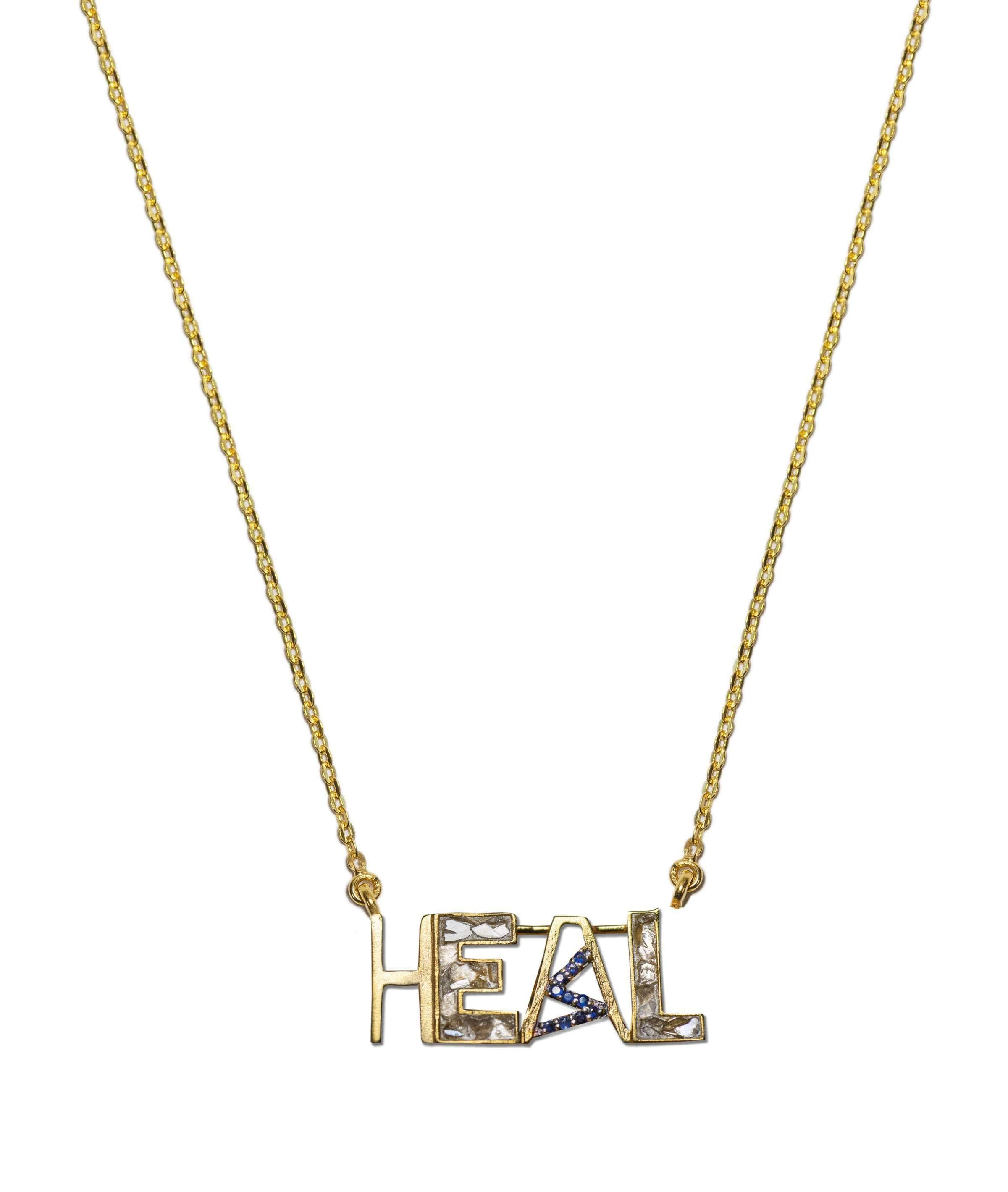 heal word pendant necklace