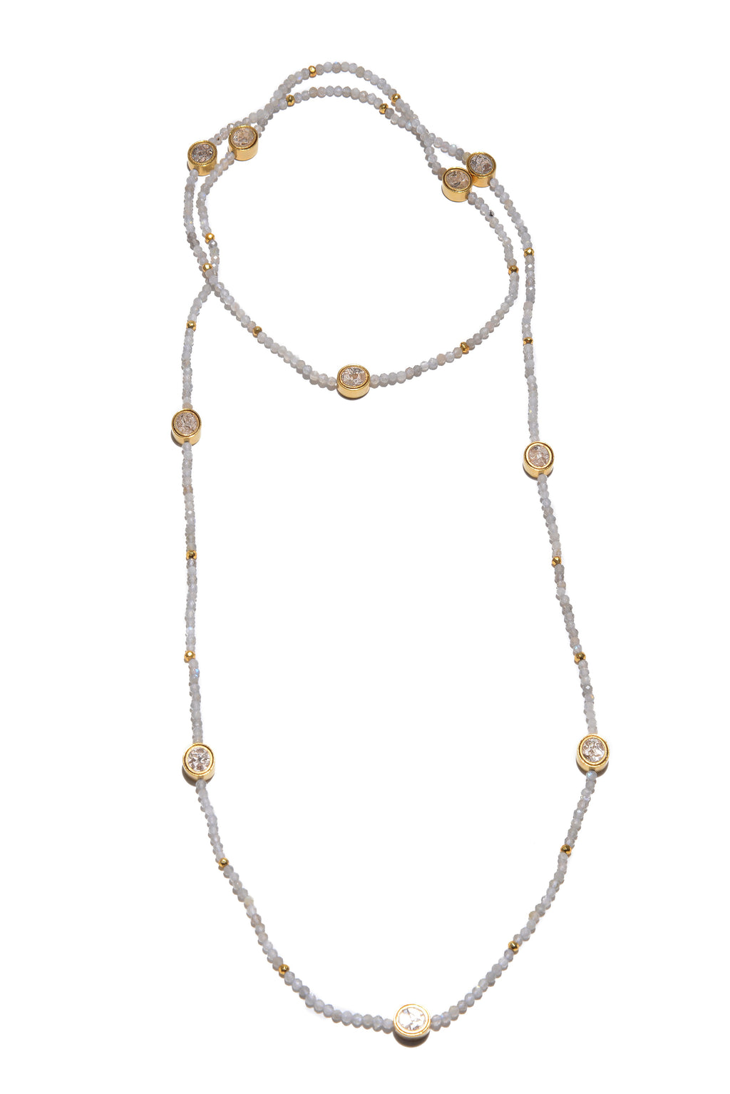 beaded gold wrapped necklace