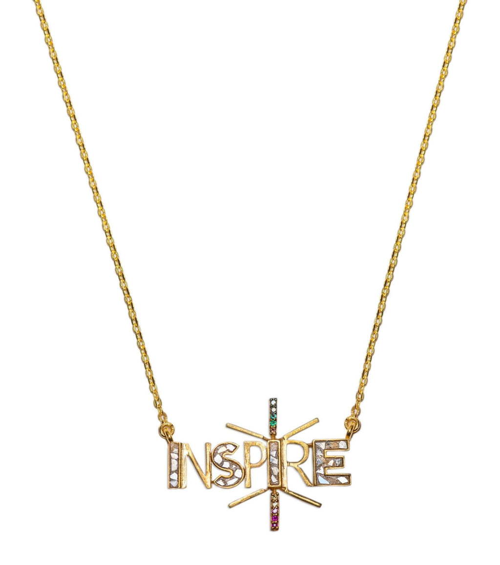inspire word pendant necklace