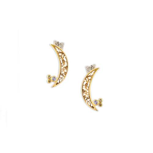 Krishna Earrings Gold