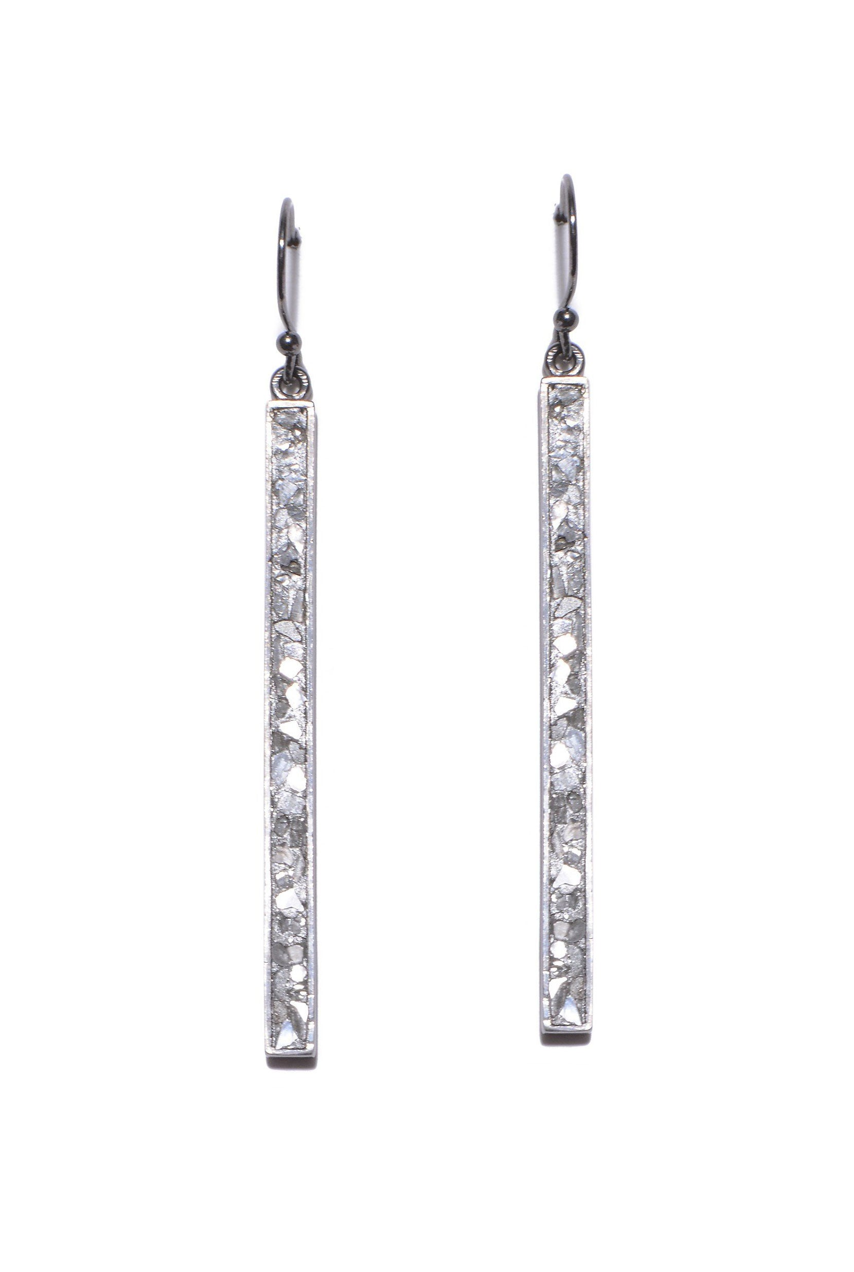 sterling silver diamond drop dangle earrings