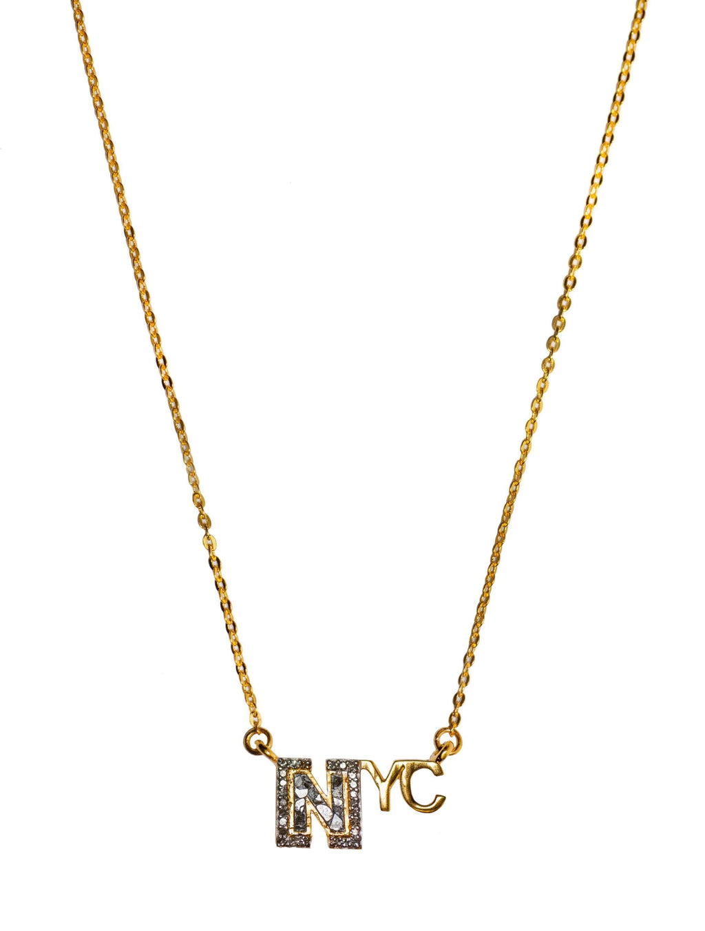 new york city word pendant necklace
