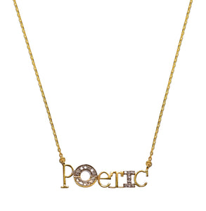 poetic word pendant necklace