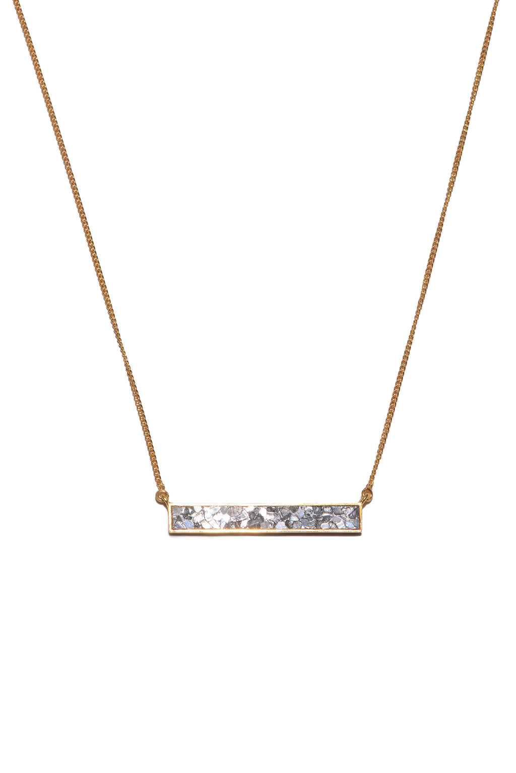 diamond rectangle gold pendant necklace