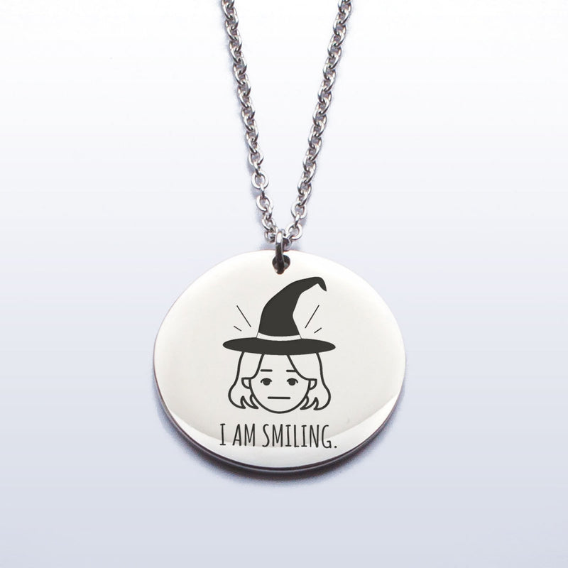 'I am smiling'  - Stainless Steel Pendant