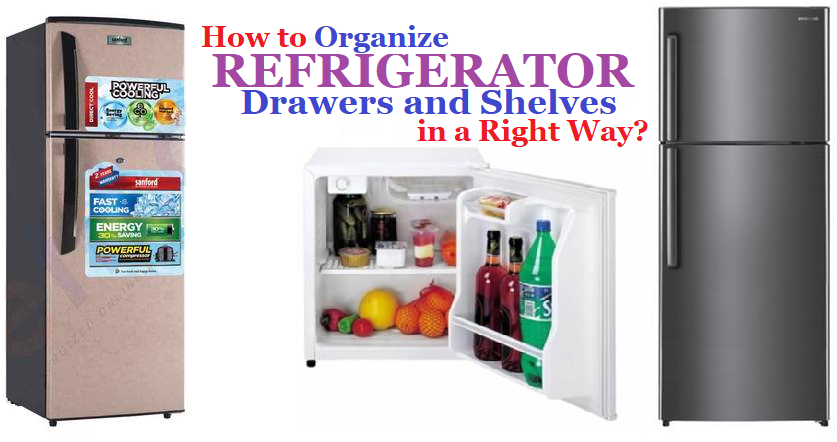 How to Organize Refrigerator Drawers and Shelves in a Right Way?