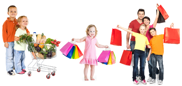 how to do stress-free shopping with kids