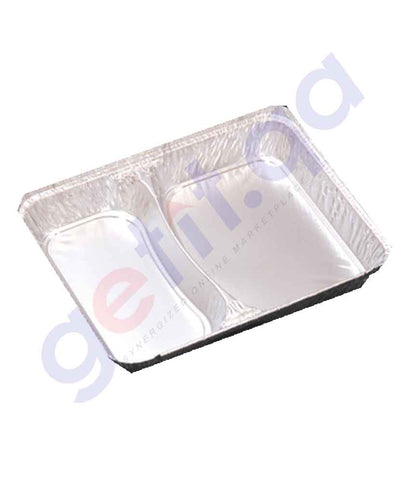 BUY MTC-ALUMINUM CONTAINER W/LID 85820, 2 COMPARTMENT IN QATAR