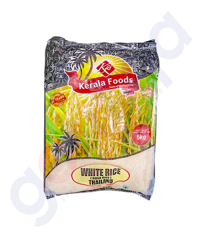 THAILAND WHITE RICE - 5 KG BY KERALA FOODS