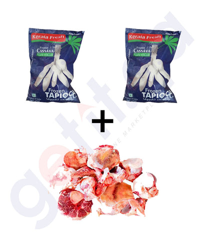 FROZEN TAPIOCA 700 G X 2  + LOCAL  BEEF BONES 1KG