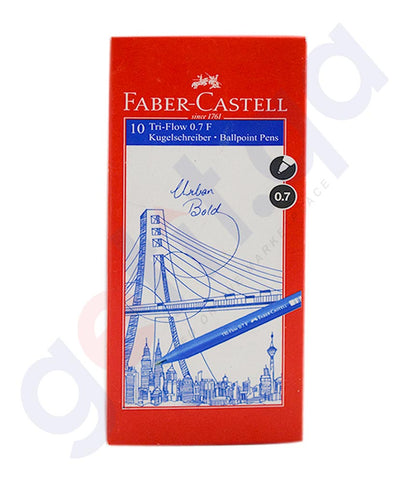 Buy Faber Castell Tri Flow Ball Pen 0.7mm in Doha Qatar