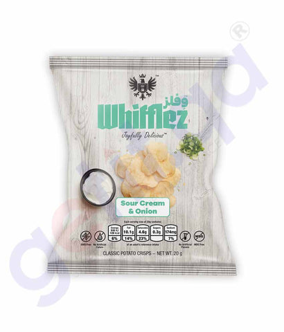 WHIFFLEZ CLASSIC SOUR CREAM & ONION 20G
