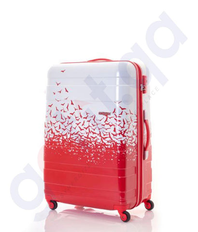 Buy American Tourister MV Plus Spinner 69cm Fly Away Red in Doha Qatar