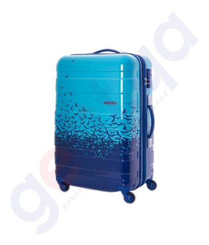 Buy American Tourister MV Plus Spinner 69cm Fly Away Blue Doha Qatar