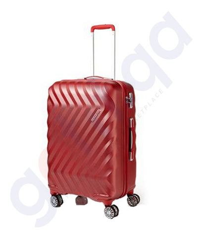 Buy American Tourister Zavis 67cm Texture Red in Doha Qatar