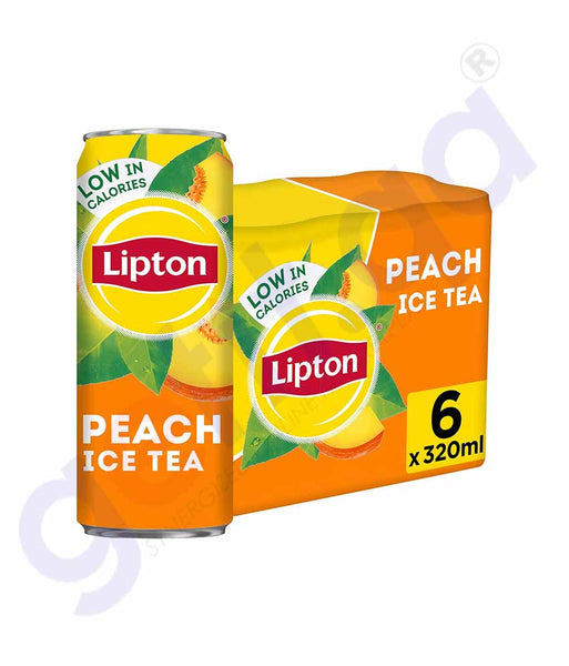 GETIT.QA | Buy Lipton Ice Tea Peach 6x320ml Price Online in Doha Qatar