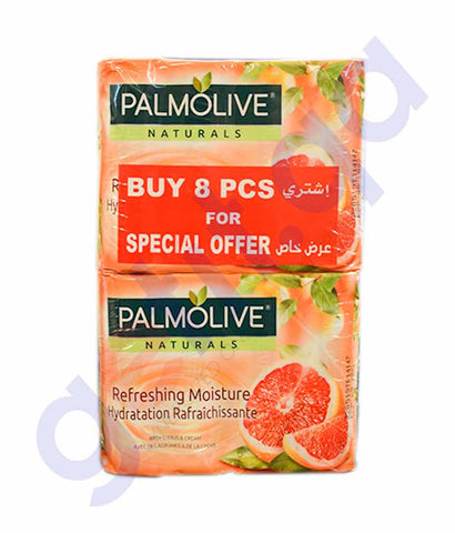 Buy Palmolive Natural Citrus-Cream Soap 90g 8Pcs Doha Qatar