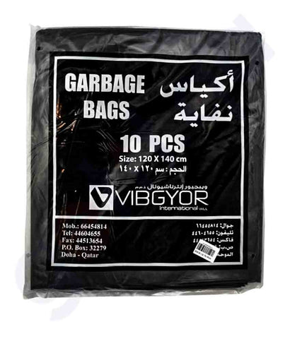 Buy Vibgyor Garbage Bag 120x140- 10pcs Online in Doha Qatar