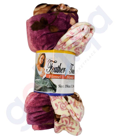 Buy Feather Touch Fleece Single Blanket Online in Doha Qatar