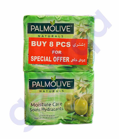 Buy Palmolive Natural Aloe & Olive Soap 90g 8Pcs Doha Qatar