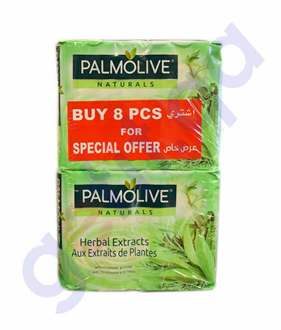 Buy Palmolive Natural Herbal Soap 90g 8Pcs Price Doha Qatar