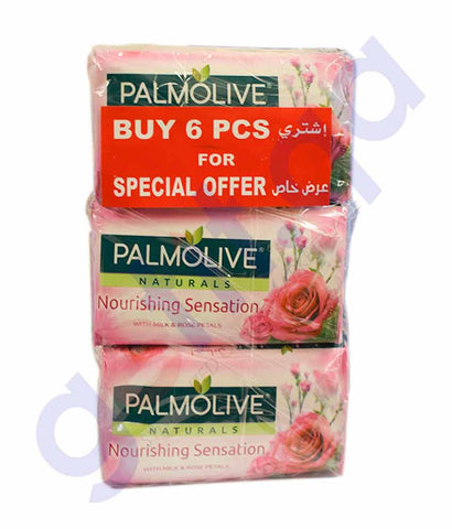 Buy Palmolive Natural Milk & Rose 150g 6Pcs Doha Qatar