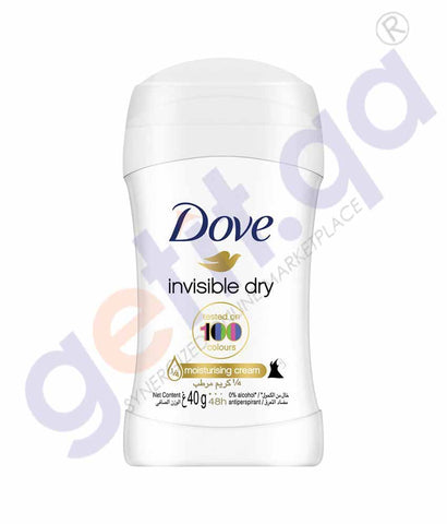 BUY ONLINE DOVE 40GM INVISIBLE DRY DEODORANT STICK IN QATAR