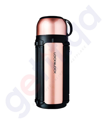 Buy Lock & Lock Giant Vacuum Hot Tank Pink Gold Doha Qatar