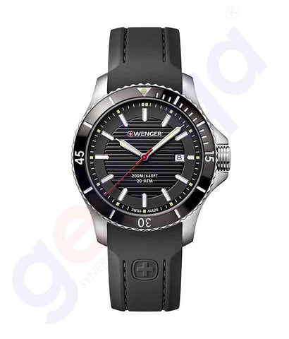 GETIT.QA | Buy Wenger Seaforce Men's Watch Black 01.0641.117 Doha Qatar