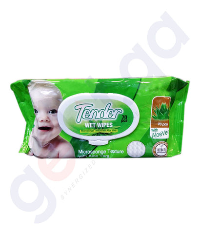 TENDER WET WIPES 70PCS MIDI