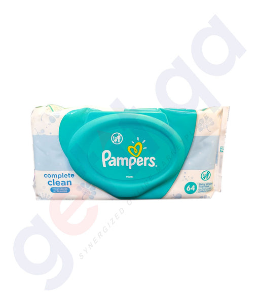 PAMPERS - PAMPERS BABY WIPES SINGLE PACK 64-WIPES