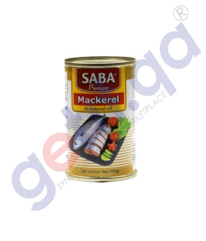 Buy Saba Mackerel in Natural Oil 155gm Online in Doha Qatar