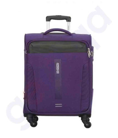 American Tourister Madison Spinner 56cm Purple Doha Qatar