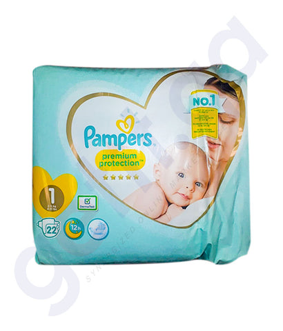 PAMPERS PREMIUM CARE SIZE-1 (22 PIECES)