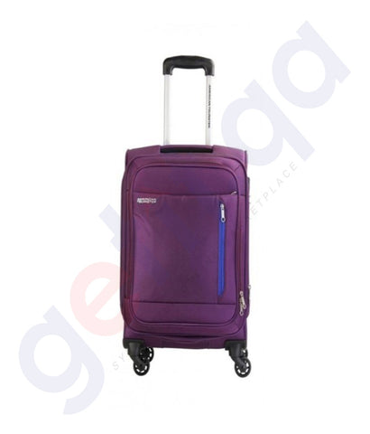 Buy American Tourister Nuie Spinner 55cm Purple Doha Qatar