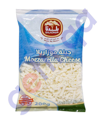 Buy Baladna Shredded Full Fat Mozzarella Cheese 200g Doha Qatar