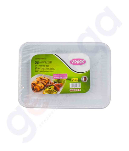 Buy V-Pack Square Plate Size No 4- 25pcs/Pkt in Doha Qatar